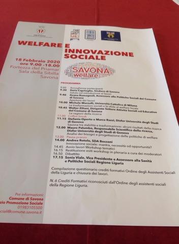 A Savona un incontro dedicato al welfare